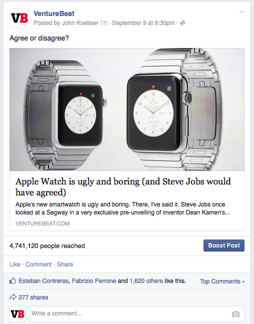 reach - facebook