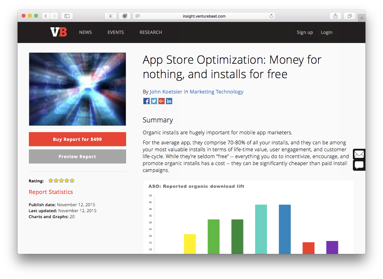 app store optimization report john koetsier